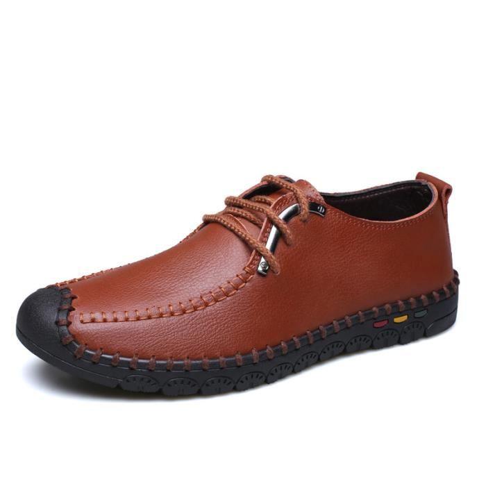 marron Chaussures bleu Homme Richelieu Cuir Marron Iztpserg Jaune noir nvYw4qvd