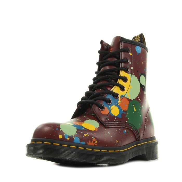 Boots Dr Martens 1460 Cherry Red Splatter Smooth