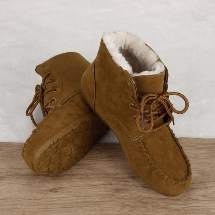 Chaussures chaudes de nouvelles femmes classiques Bottes de neige Chaussures courtes d'hiver de mode kaki