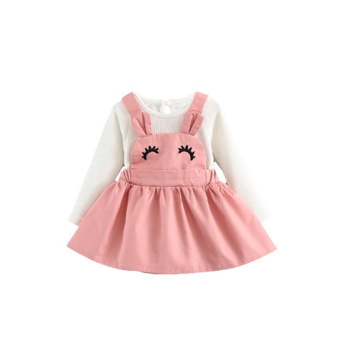 patchwork pattern mignon dessin animé bébé fille manches longues robe de ligne