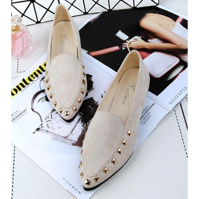 On Soft Flats bateau Rivet Slip Femmes chaussures XMM80102531BG confortables Chaussures Mesdames FxPw0HqXZ