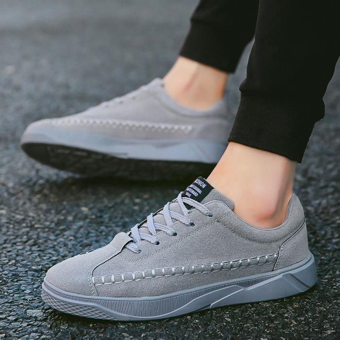 Ete Basket Hommes Confortable Classique mode Homme chaussure de ville WYS-XZ272Gris39 SzC4g