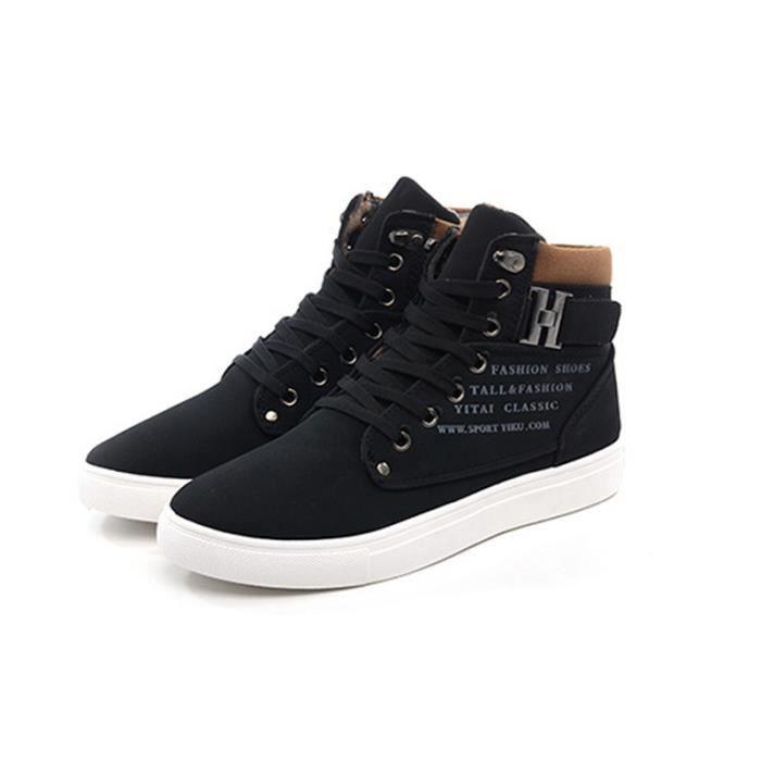 buy popular 1278c 94de9 Bottine-boots homme vintage chaussures à lacets occasionnels YST-XZ3072