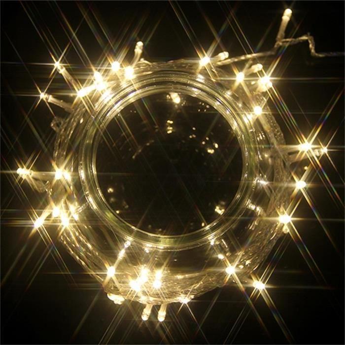 Guirlande 12m Led String Lights Extérieur Lumineuse Pour Noël Ip44 Maison Jardin Fairy 8 100 Blanc Modes Chaud Lampes EwqIn