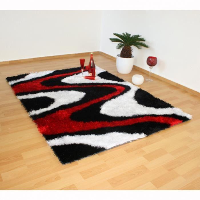 Tapis Shaggy 3 coloris noir blanc rouge carpet ... - Achat / Vente ...