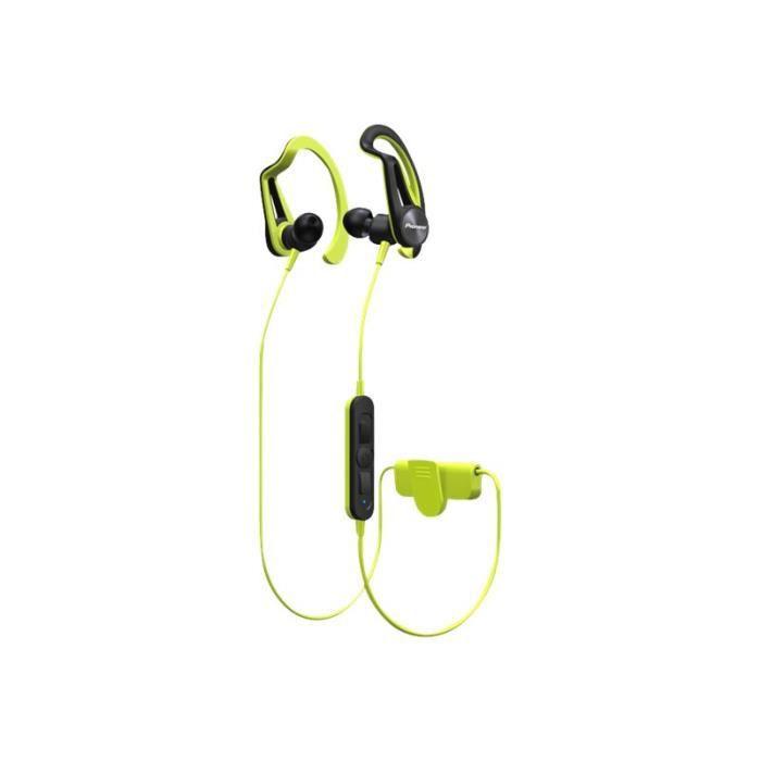 Pioneer Se-e7bt Écouteurs Avec Micro Intra-auriculaire Montage Sur L'oreille Bluetooth Sans Fil Jaune