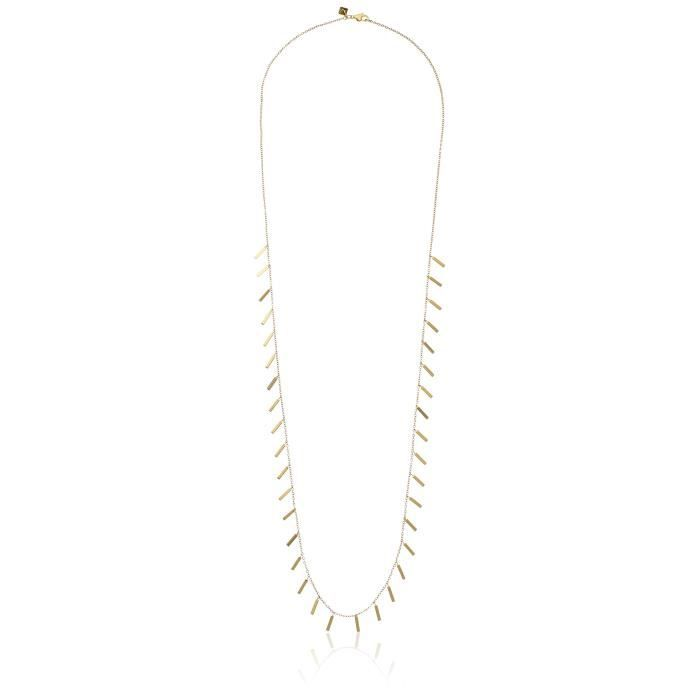 Rebecca Minkoff Bar Essentials Long Bar Fringe Strand Necklace A3YZ0