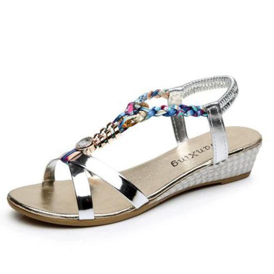 Pour Femmes Plage Plates Mode Chaussures Sandales Or Benjanies De Été Femme Lq5c4j3AR