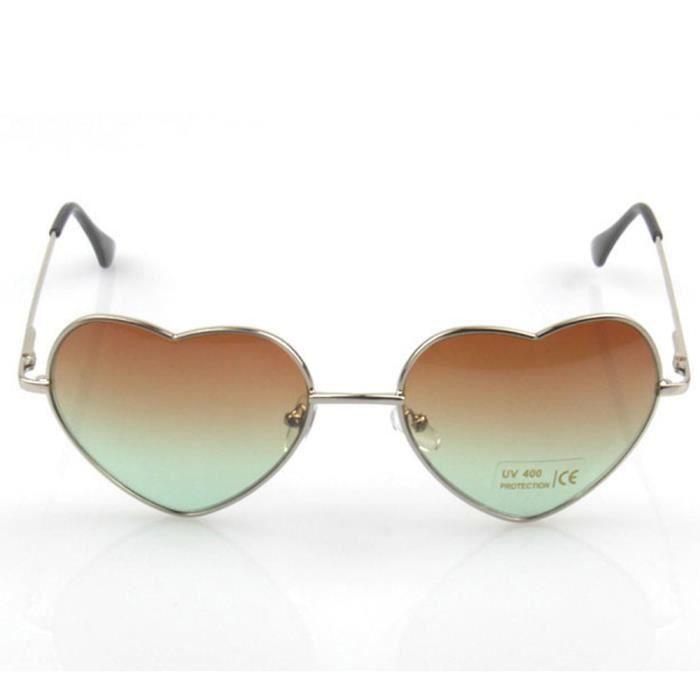 EBUY®Lunettes de Soleil pour Femmes forme de coeur #3