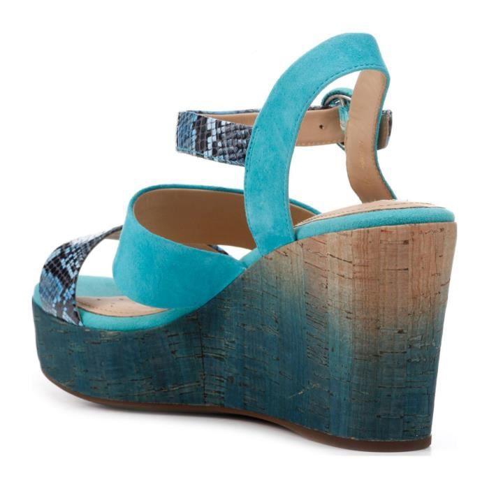 Jaleah - Sandales en cuir - bleu floral