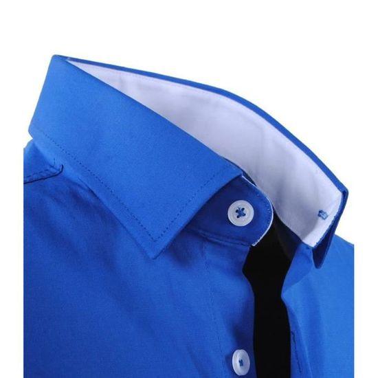 88672f5bc1078 Chemise fashion homme Chemise 1122 bleu roi Bleu Bleu - Achat ...
