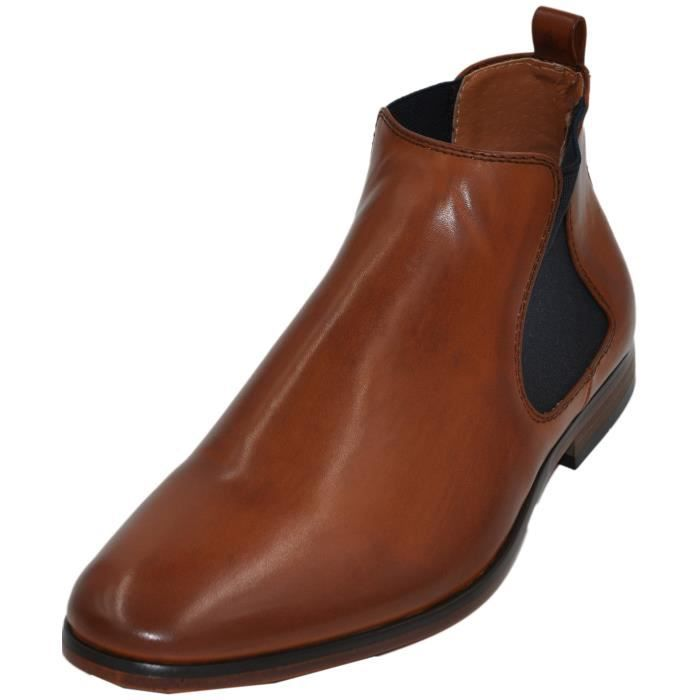 Galax bottines homme à doublure cuir