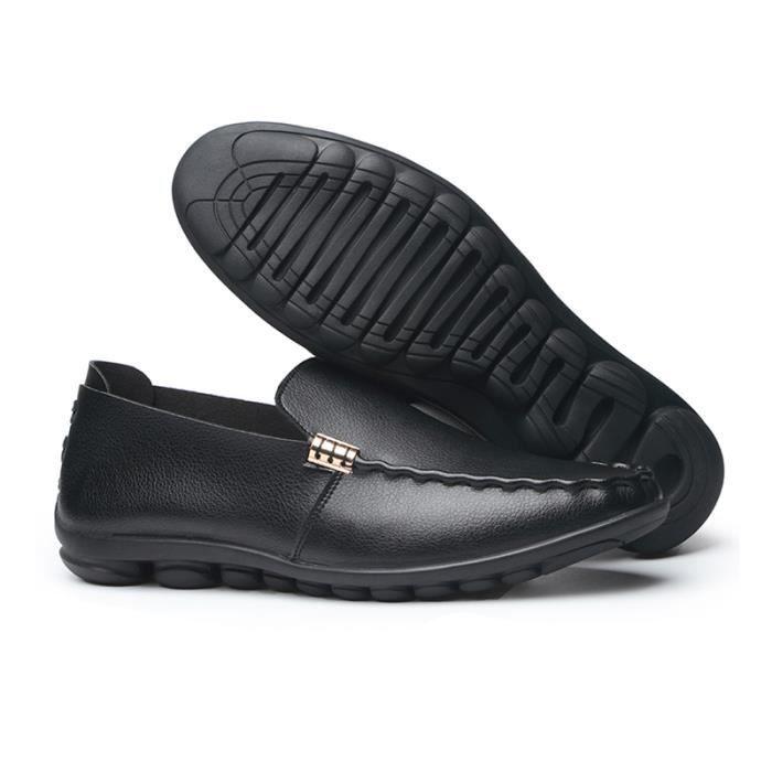 Mocassin Hommes Ete Comfortable Mode Detente Chaussures TYS-XZ75Noir38 vTQiPf5m