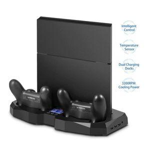 SUPPORT CONSOLE Support vertical PS4 avec ventilateur / panneau de