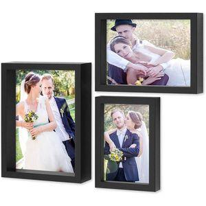 CADRE PHOTO PHOTOLINI ensemble de 3 photos 10x15, 13x18 et 15x