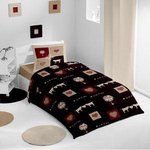 parure de drap 1 personne achat vente parure de drap 1 personne pas cher cdiscount. Black Bedroom Furniture Sets. Home Design Ideas