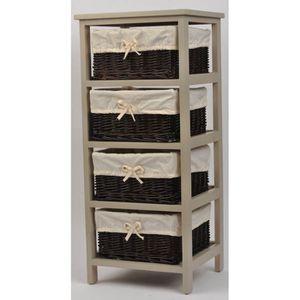 meuble de rangement beige achat vente meuble de rangement beige pas cher cdiscount. Black Bedroom Furniture Sets. Home Design Ideas