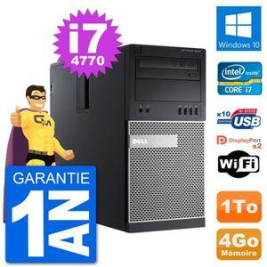 ORDI BUREAU RECONDITIONNÉ PC Tour Dell 9020 Intel Core i7-4770 RAM 4Go Disqu