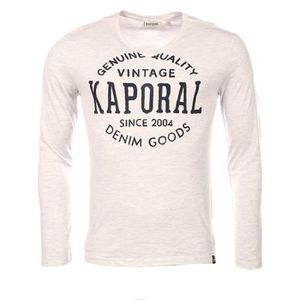 T-SHIRT Kaporal homme - T-shirt manches longues gris Kapor