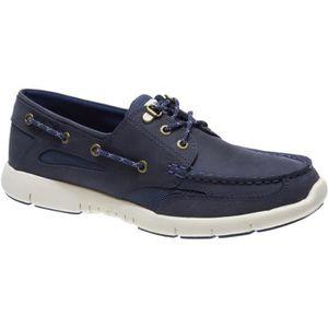 CHAUSSURES BATEAU Clovehitch cuir marine - Chaussures bateau homme S
