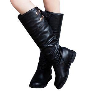 BOTTE Cuissardes femme Bottes en cuir souple confortable