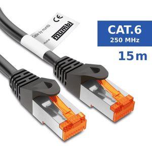 CÂBLE RÉSEAU  mumbi 15m Cat.6 Ethernet Lan câble réseau - Câble