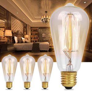 AMPOULE - LED 3x E27 Ampoules à Incandescence Vintage Rétro Edis