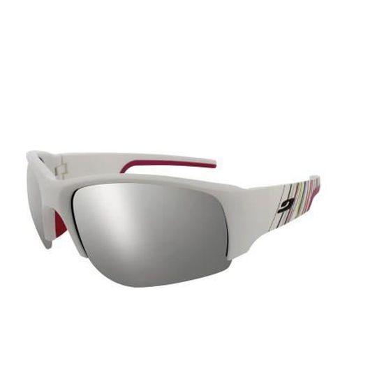 Lunettes Julbo Dust - Blanc   Fushia - Cat.3 Blanc, Fushia - Achat   Vente  lunettes de soleil Mixte - Soldes  dès le 9 janvier ! Cdiscount 36c9f785a257