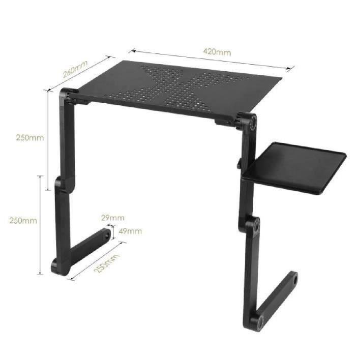 homfa table de lit pliable pour pc ordinateur portable. Black Bedroom Furniture Sets. Home Design Ideas
