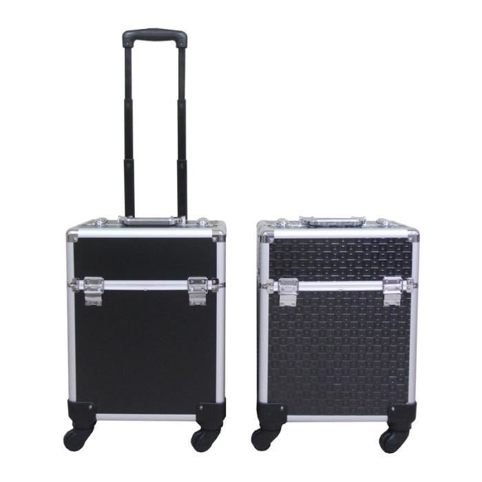 VALISE - BAGAGE Valise Cosmétique Trolley Bagages Boîte de Maquill