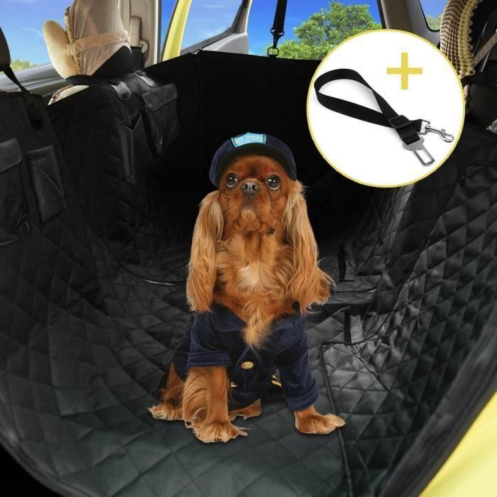 housse de si ge pour chien voiture protection de chien avec si ge r glable et ceinture de. Black Bedroom Furniture Sets. Home Design Ideas