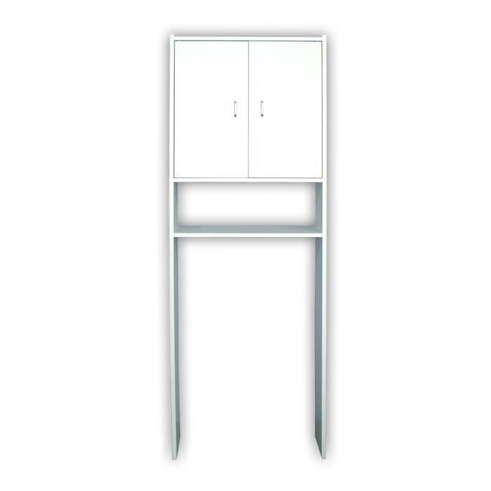 meuble dessus machine laver bois mdf laqu bl achat vente petit meuble rangement meuble. Black Bedroom Furniture Sets. Home Design Ideas