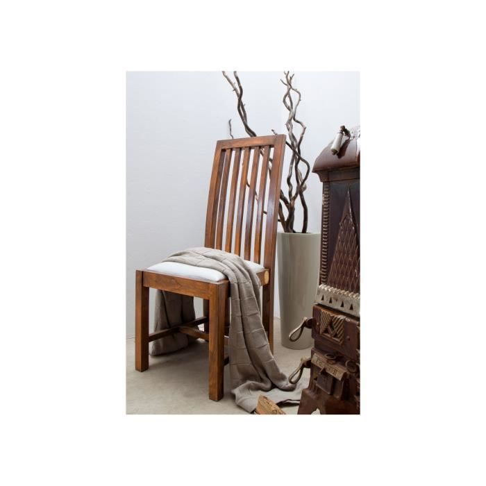 CHAISE Chaise En Bois Massif Dacacia Rembourree Style C