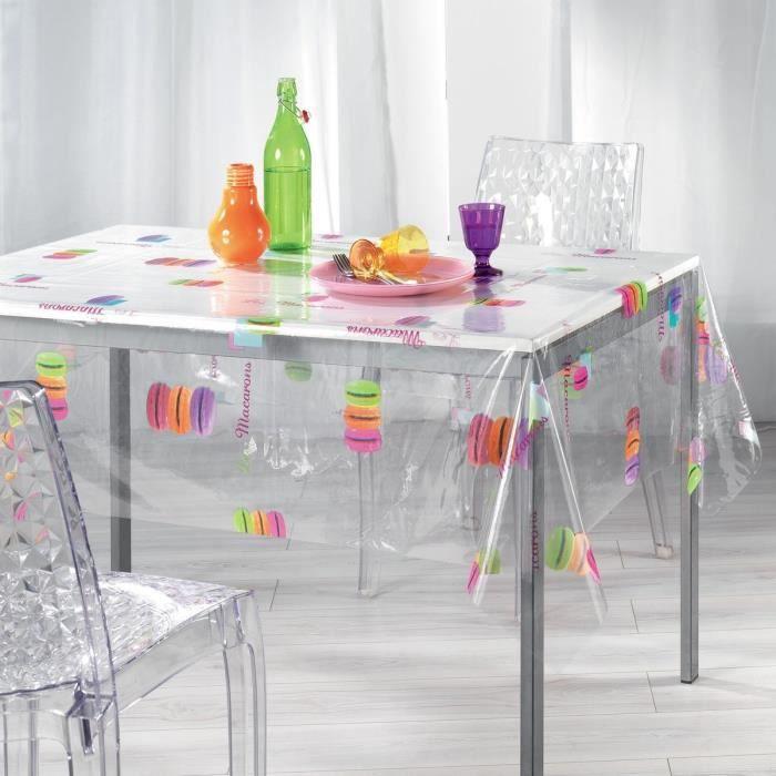 Nappe de table transparente 140x240 - Achat / Vente Nappe de table ...