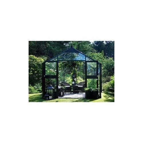 Serre en verre horticole Premium 10,9m² Sans base Anthracite - Achat ...