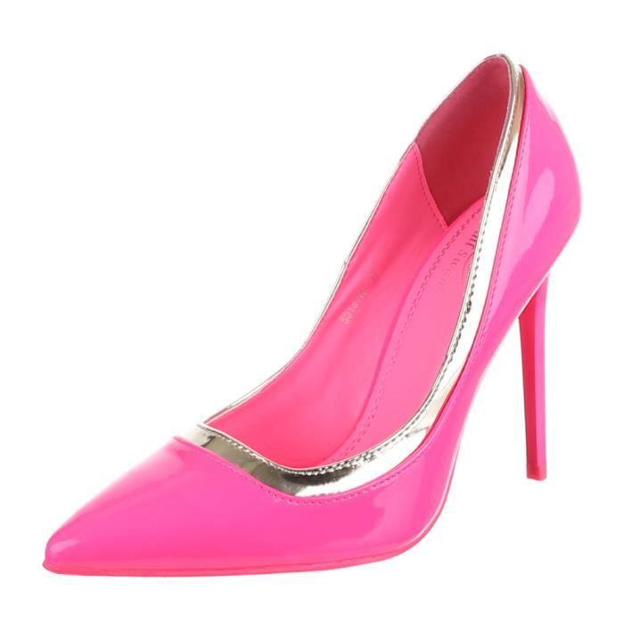 Chaussures femmes Escarpins Talon haut classique rose