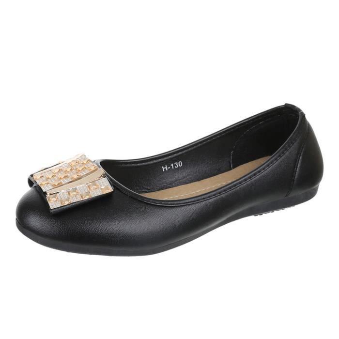 Chaussures femmes Ballerine STRASS OCCUPÉ Escarpins H6r5A