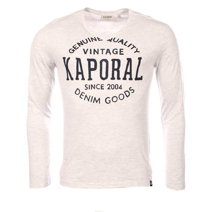 733187e095a7b Kaporal homme - T-shirt manches longues gris Kaporal Tarzu - Gris ...