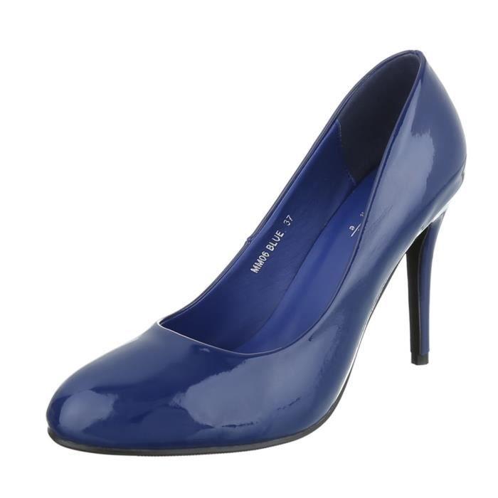 Femme chaussures escarpin High Heels bleu 40