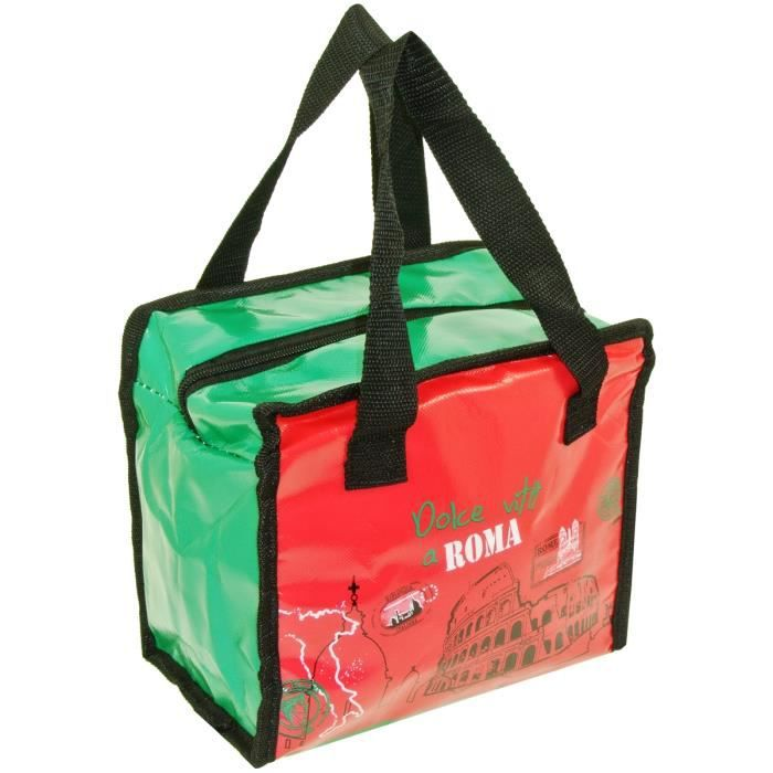 Promobo Lunch Bag Sac Panier Repas Fraicheur Isotherme Menu Du Jour Prune BI9LoeLD