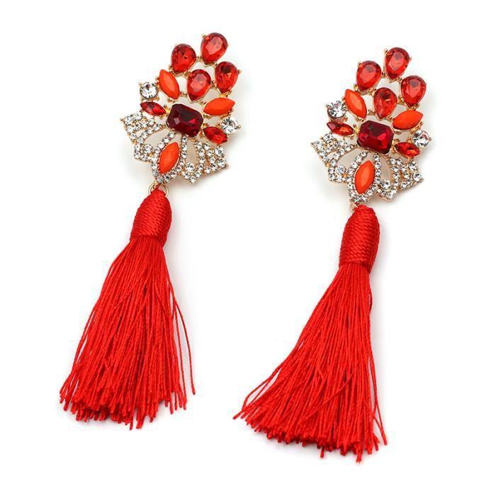 New Fringed Statement Boucles doreilles Wedding Tassel Multicolore Hot Fashion Drop Dangle Boucles doreilles Bijoux