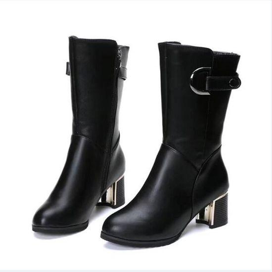 Des Haute Dames Avec Botte Cales Cheville Zipper Femmes 1001 Chaussures Boot Xym71207908 Rough Chaud Talon fqwBI0EX