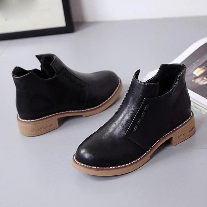 Bottes courtes simples Femmes Bottes Martin Martin Bottes Chaussures à lacets