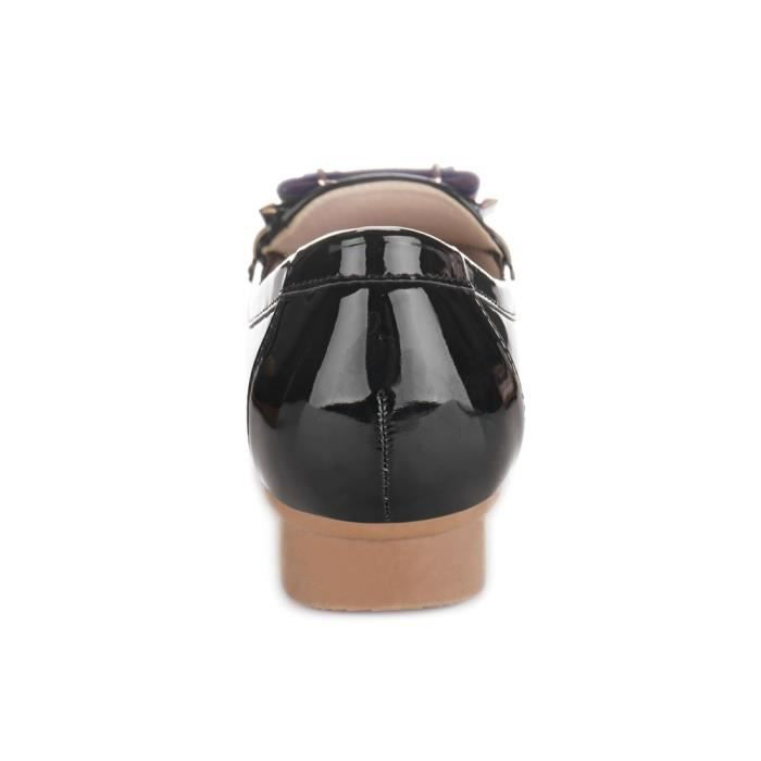 Bow rayures Slip-on Mocassins FYMQE Taille-38 1-2