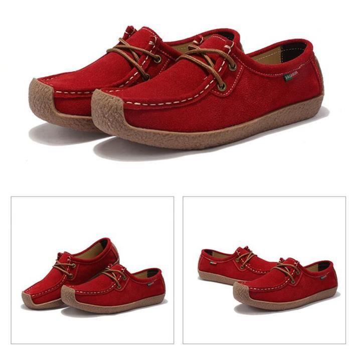 Moccasins Femme Léger Loisirs Confortable Chaussure Nouvelle Mode Haut qualité Doux Moccasin Classique Elégant Rétro 35-42
