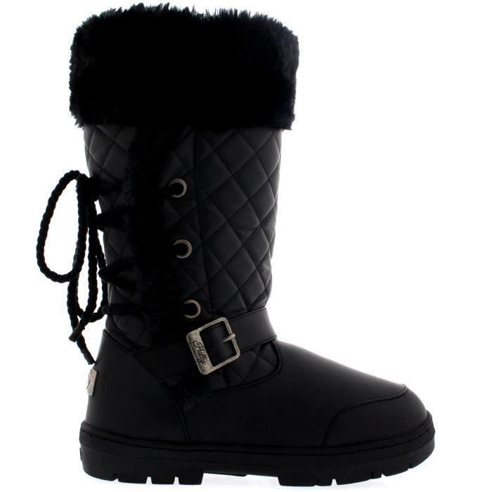 Bottes dentelle d'hiver Femmes Roap pluie de 38 Taille Boucle hautes Retour neige DNP3P qAqRYpw