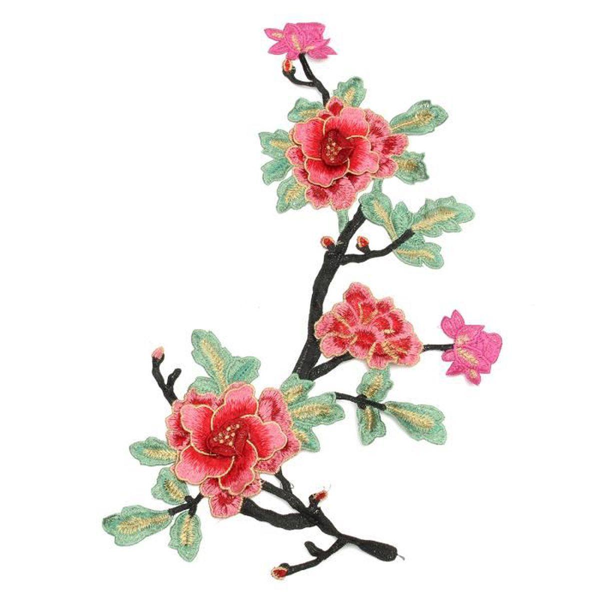 Patch 3d fleur pi ce broderie motif collier venise for Fleurs vente