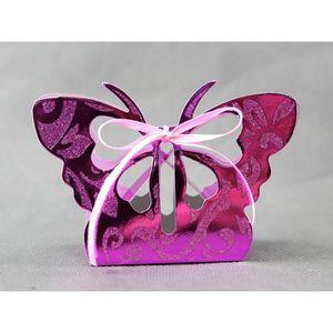 BOÎTE À DRAGÉES Lot 50 boîtes à dragées papillon orientaux pour fa