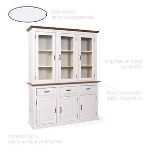 armoire de chambre meuble vaisselier vitrine vaisselier pin massif