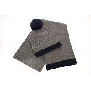 d9322f843c9 BONNET - CAGOULE Chapeau de bonnet et écharpe pour homme en gris et